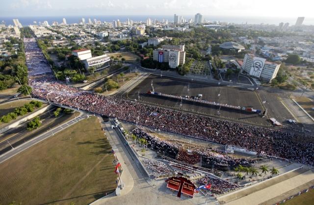 Celebração do 1º de Maio em Cuba, 2011.