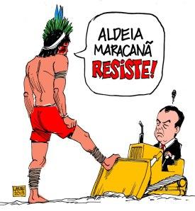 Charge Latuff Aldeia Resiste Cabral