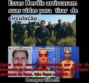 Heróis contra a Rede Globo e os políticos.