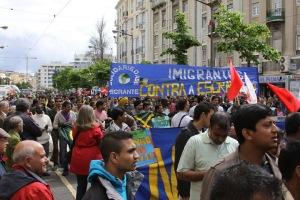 Mobilização de 1 de maio em Portugal, com participação de trabalhadores imigrantes (2012)