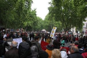 Manifestação em comemoração ao 25 de abril, data-símbolo da Revolução dos Cravos (2012)