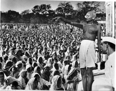 O violento Gandhi
