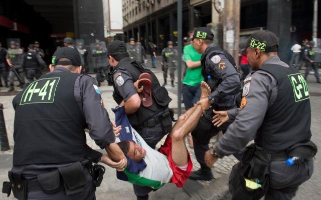 BRAZIL-TEACHERS-PROTEST