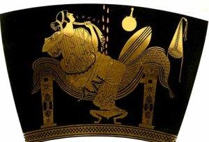 Zeus converte-se em chuva dourada para fecundar Danae