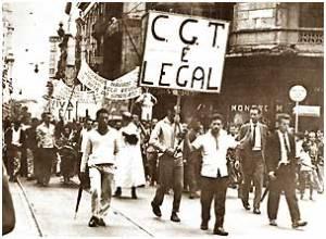 Passeata do CGT no Rio de Janeiro reivindica a garantia do direito de organização dos trabalhadores para além da estrutura sindical corporativa