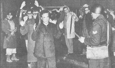 'Noche de los bastones largos', 29 de julho de 1966, Buenos Aires, um dos episódios mais conhecidos da ditadura argentina