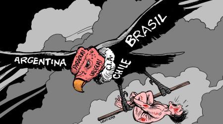 Operacao Condor. Charge de Latuff.