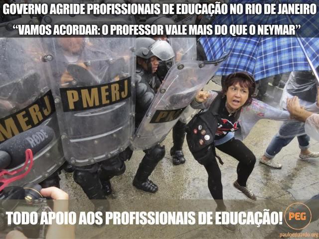 Todo apoio aos profissionais da educação.