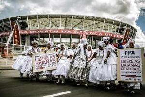 Baianas protestam em Salvador (Foto: Mídia Ninja).