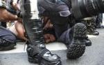 Mais violência contra o manifestante Rafael Marques Lusvarghi