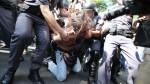 Rafael Marques Lusvarghi continua preso e esta sendo processado por resistir a prisão e, entre outras acusações, associação criminosa armada, mesma acusação feita a militantes presos no Rio de Janeiro no encerramento do mundial.