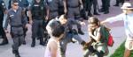 Policias não economizaram na violência arbitrária.
