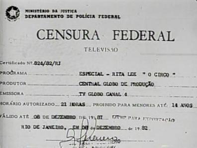 Formulário da censura.