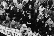 Freiras em protesto. (foto: Evandro Teixeira)