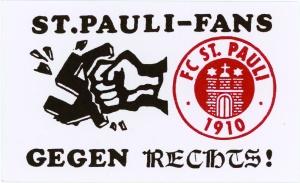 """""""Fãs do St. Pauli contra a direita"""""""