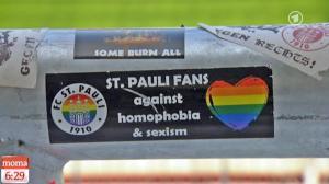 """""""Fãs do St. Pauli contra homofobia e sexismo"""""""