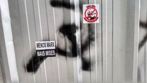 Ação direta da direita. Menos Marx, mais Mises na Universidade Federal Fluminense.