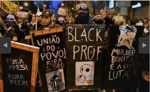 Black Blocs na greve dos professores das redes municipal e estadual do Rio de Janeiro