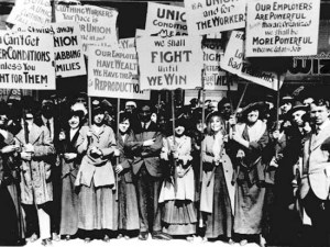 Protesto no dia internacional das mulheres