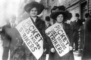 Tecelãs em greve