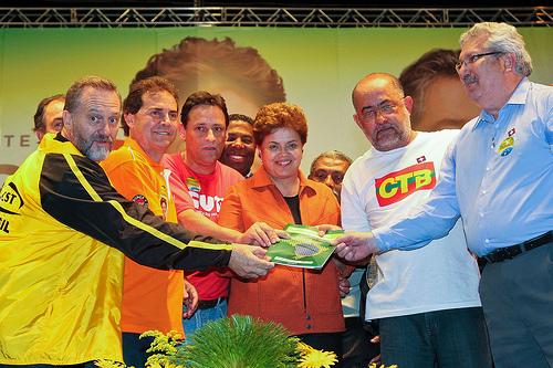 Dirigentes sindicais negociam a PPE com o governo Dilma.