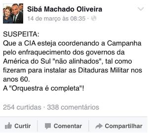 """SUSPEITA: Que a CIA esteja coordenando a Campanha pelo enfraquecimento dos governos da América do Sul """"não alinhados"""", tal como fizeram para instalar as Ditaturas Militar nos anos 60. A """"Orquestra é completa!""""."""