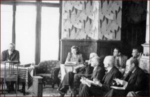 Primeira reunião da Mont-Pelerín, em 1947.