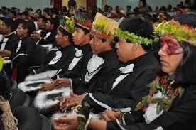 Turma de formandos da Licenciatura Indígena Teko Arandu