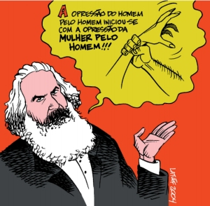 Marx em charge do Latuff