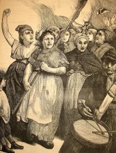 """""""Mulheres de Paris"""" na Harper's Weekly de 27 de Maio de 1871."""