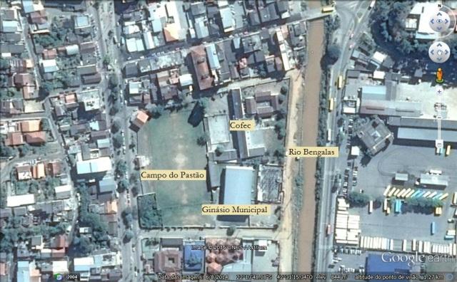 Mapa da região do Campo do Pastão, em Conselheiro Paulino