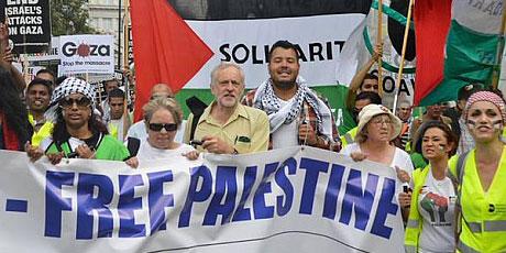 Movimento anti ataques israelenses em Gaza, no verão de 2014.